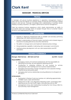 resume for tradesmen - Template Resume Australia